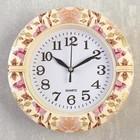 """Часы настенные, серия: Классика, """"Розовый куст"""", 19х19х3 см"""