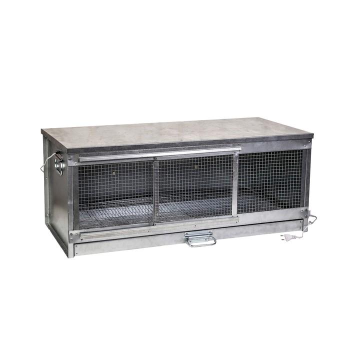 Брудер для цыплят, 100 × 40 × 45 см, с поддоном, с патроном под лампу, металлический