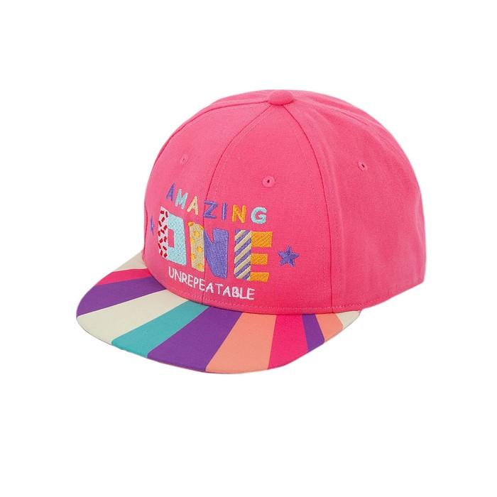 Бейсболка детская, цвет розовый, р-р 50