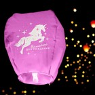 "The symbols of wishes ""Magic birthday!"" the unicorn, the shape of the dome, mix colors"