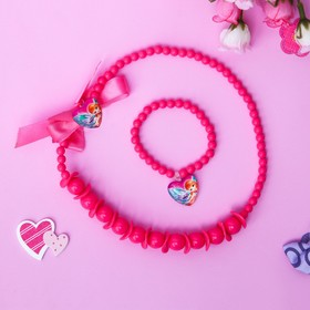 Set 2-in-1 for children: beads and bracelet