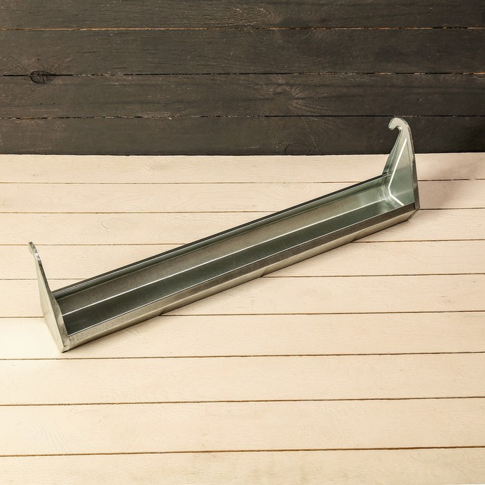 Навесная поилка-кормушка, 60 см, металл