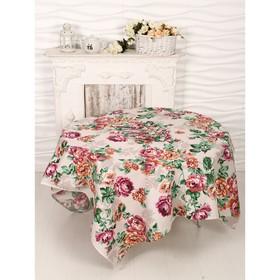 Набор Розалия сиреневый скатерть 150х150 см + 6 салфеток рогожка, 160 г/м2, хлопок 100%