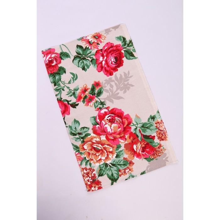 Полотенце Розалия красный 35х60 см рогожка, 160 г/м2, хлопок 100%