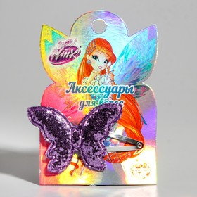 Children's hairpin with a shiny butterfly, VINX fairies, 1 piece