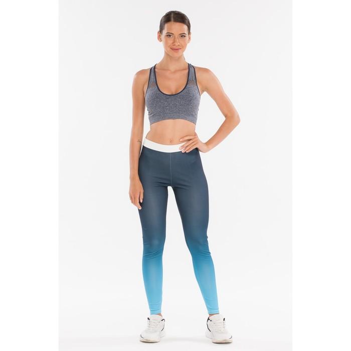 Легинсы женские спортивные, цвет синий, размер 44-46 (M)
