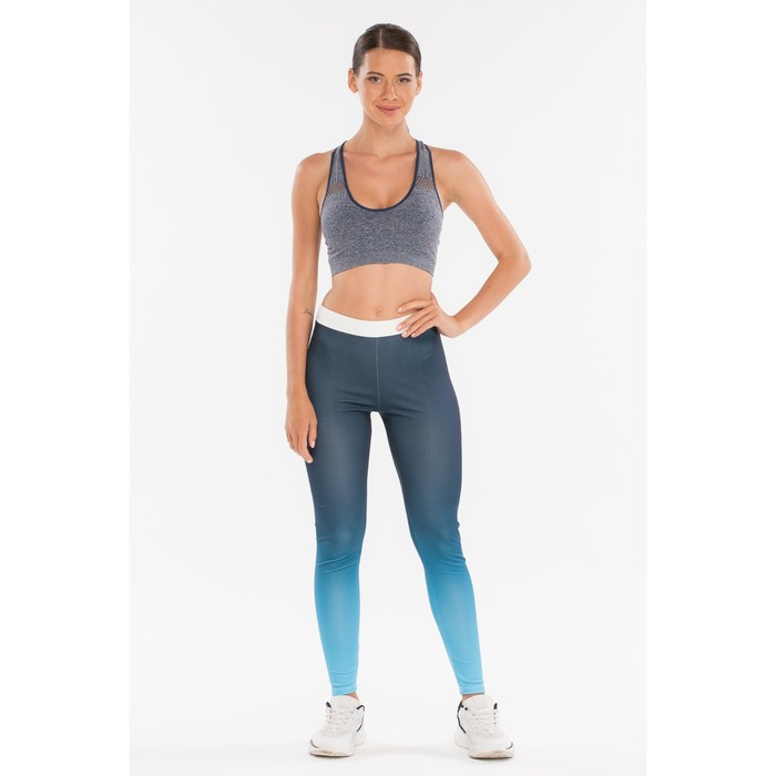 Легинсы женские спортивные, цвет синий, размер 40-42 (S)