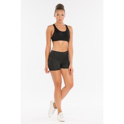 Шорты женские спортивные, цвет чёрный, размер 40-42 (S)