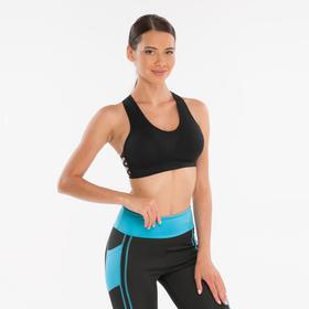 Топ-бра женский спортивный, цвет чёрный, размер 44-46 (M)