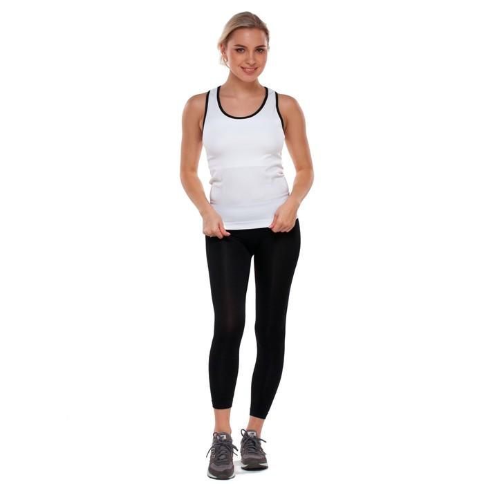 Майка женская спортивная, цвет белый, размер 40-42 (S)