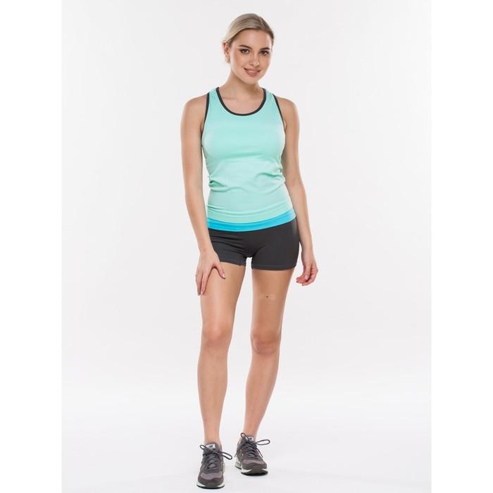 Майка женская спортивная, цвет голубой, размер 48-50 (L)