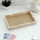 Поднос фигурный для завтрака со вставкой, цвет орех сонома, 40х25см