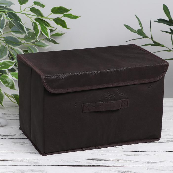 """Короб для хранения 37×24×24 см """"Алва"""", цвет коричневый - фото 288341852"""