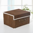 Короб для хранения с крышкой «Горошек», 26×20×15 см, цвет коричневый - фото 308332110