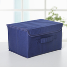 "Короб для хранения 26×20×15 см ""Алва"", цвет синий - фото 137640529"
