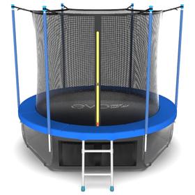 Батут EVO JUMP Internal 10 ft, d=305 см, с внутренней защитной сеткой и лестницей + нижняя сеть, синий