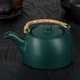 "The tea pot with a metal sieve ""Shifu"" 500 ml, green"