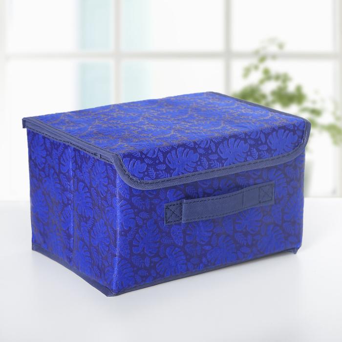 "Короб для хранения 26×20×15 см ""Тропики"", цвет синий - фото 150913215"