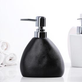 """Дозатор для жидкого мыла """"Мужской"""", цвет чёрный"""
