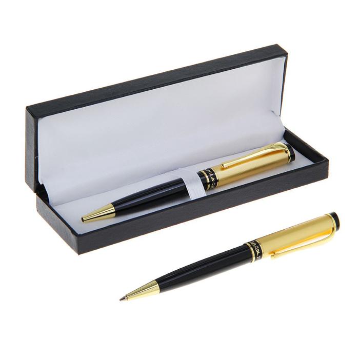 Ручка шариковая, подарочная, поворотная, в кожзам футляре, «Фаворит»