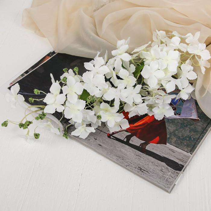 """Цветы искусственные """"Кассия"""" 5*100 см, белый"""