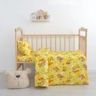 Постельное бельё Экономь и Я «Мишка» бейби, цв.желтый, 145×112 ± 5см, 100×150 ± 5см, 40×60 ± 5см - 1 шт, бязь 120 г/м²