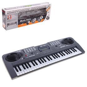 Синтезатор «Нотка», 54 клавиши, работает от батареек и от сети, адаптер в комплект не входит