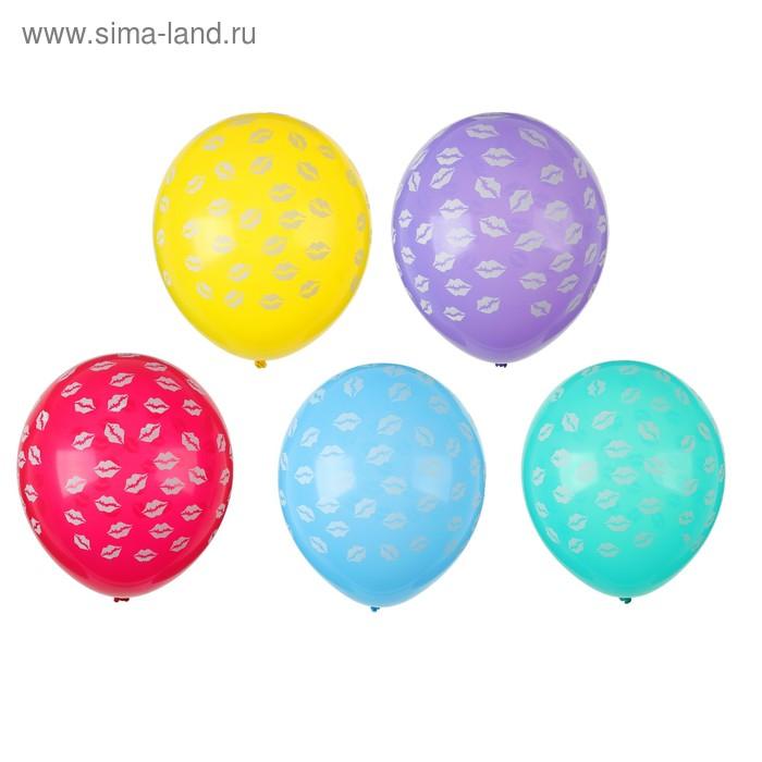 "Balloon latex 12"" ""Sponge"", set of 5 PCs, MIX"