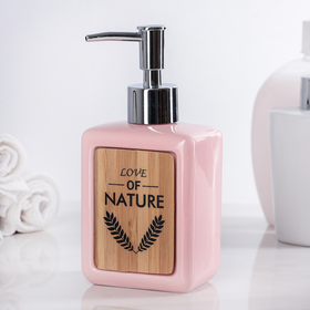 "Soap dispenser ""Nature"", the color pink"