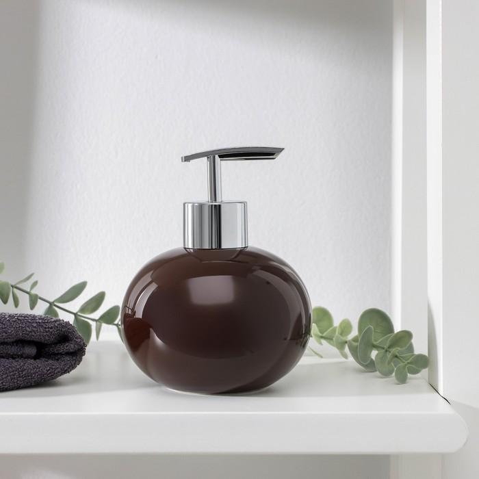 """Дозатор для жидкого мыла """"Карамель"""", цвет коричневый"""