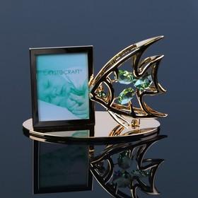 Фоторамка «Рыбка», 6×10×4,5 см, с кристаллами Сваровски
