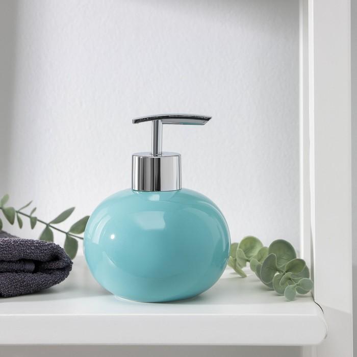 """Дозатор для жидкого мыла """"Карамель"""", цвет зелёный - фото 1603042"""