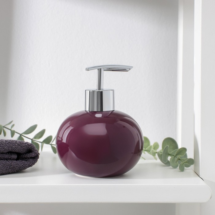 """Дозатор для жидкого мыла """"Карамель"""", цвет фиолетовый"""