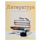 """Notebook subject """"Subjects"""", 36 sheets in a line of """"Literature"""", with reference material, white 75%, cardboard cover"""