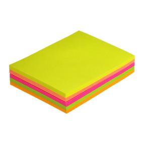 Блок с липким краем, 100 листов, 5 цветов, флюоресцентный, микс Ош