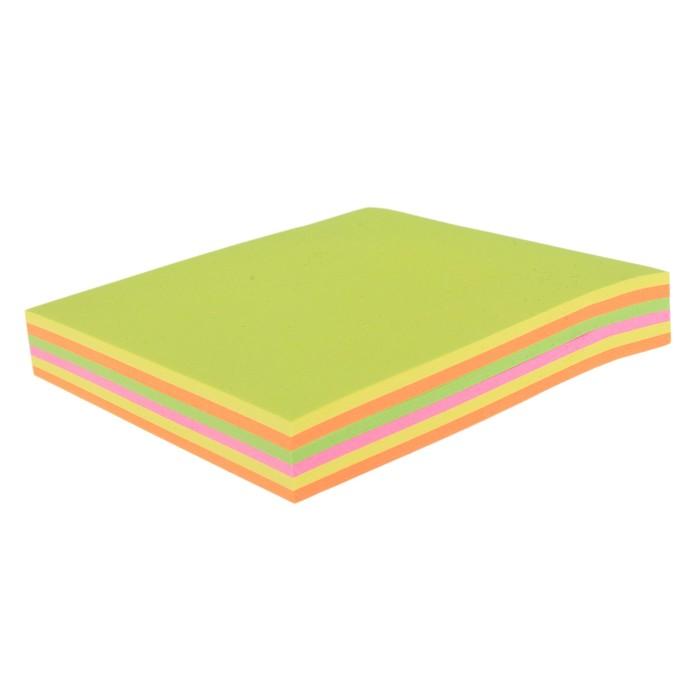 Блок с липким краем, 100 листов, 5 цветов, флюоресцентный, микс
