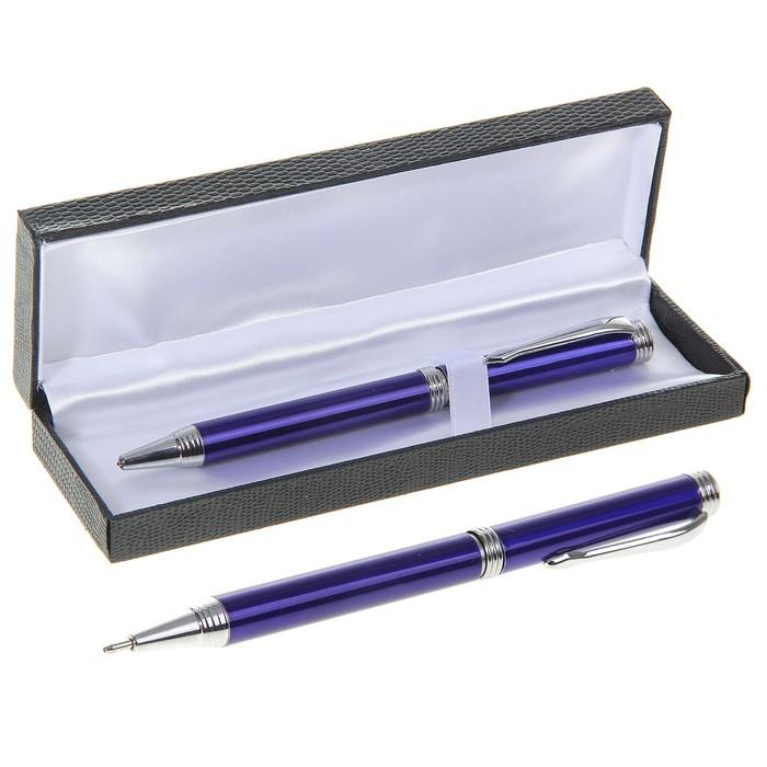 Ручка шариковая, подарочная, поворотная, в кожзам футляре, «Директор» - фото 797564401