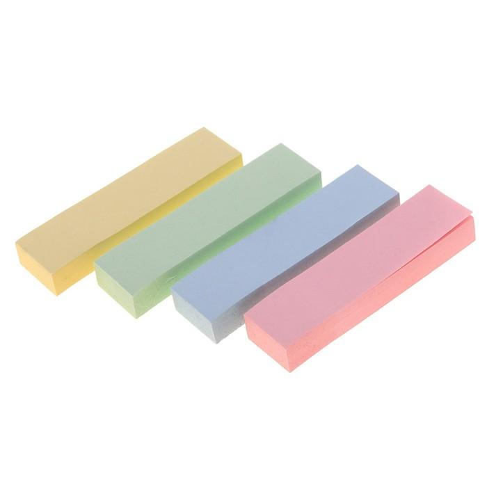 Блок-закладки с липким краем, 4 блока по 100 листов, пастель, микс