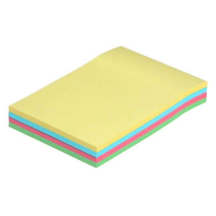 Блок с липким краем, 100 листов, 4 цвета, пастель микс