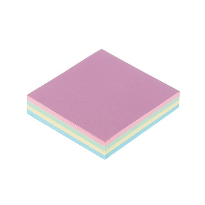 Блок с липким краем, 100 листов, 4 цвета, пастель, микс