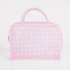 Косметичка ПВХ, отдел на молнии, 2 ручки, цвет розовый - фото 1769895