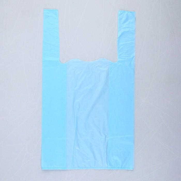 """Пакет """"Синий"""", полиэтиленовый, майка, 25 х 45 см, 10 мкм"""