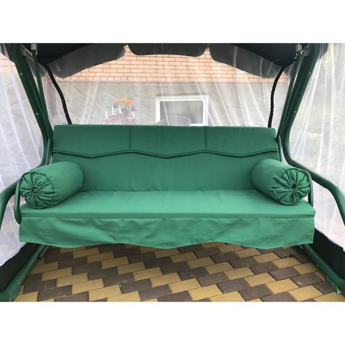 Матрас для садовых качелей Волна + валики 170, цвет зеленый