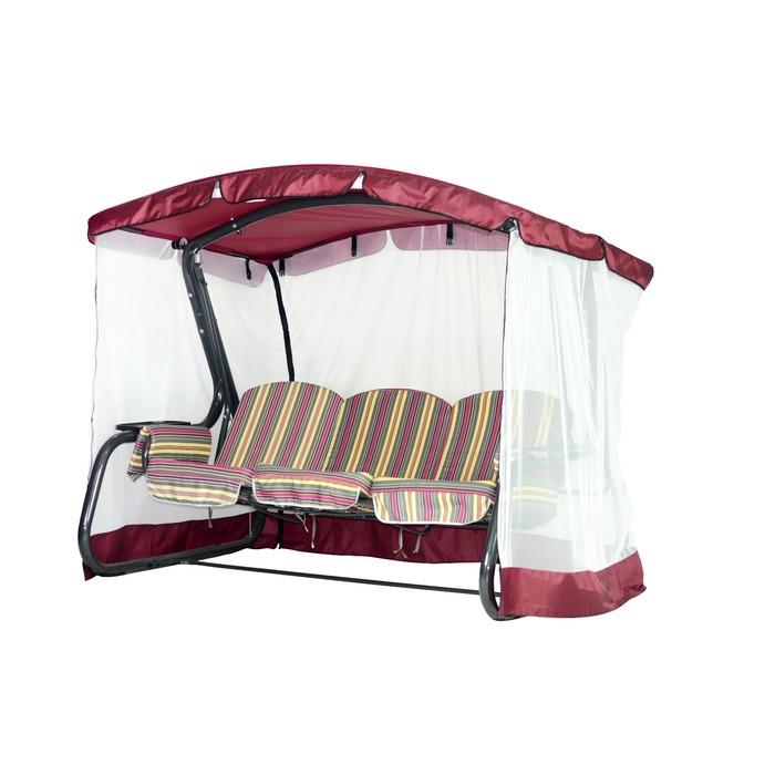 Тент-крыша + москитная сетка Сорренто бордовый