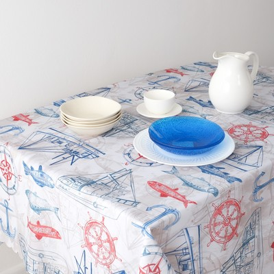 Tablecloth Share the Journey, 110*140cm, 100% p/e