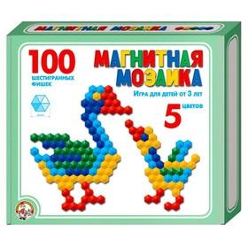 Мозаика магнитная шестигранная, 5 цветов, 100 элементов
