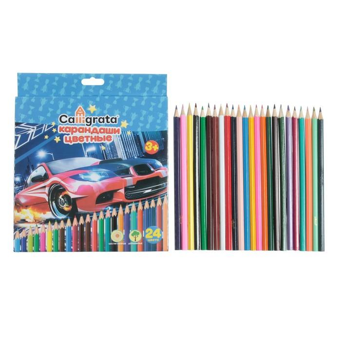 Карандаши 24 цвета, Calligrata, «Машинка» - фото 666247751