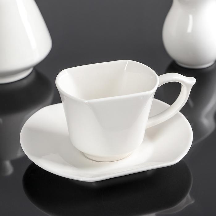 "Кофейная пара ""Мохаве"": кружка 120 мл, блюдце 14,5х12,5 см"