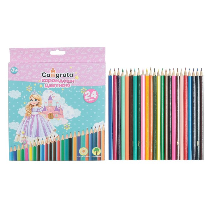 Карандаши 24 цвета, Calligrata, «Принцесса»