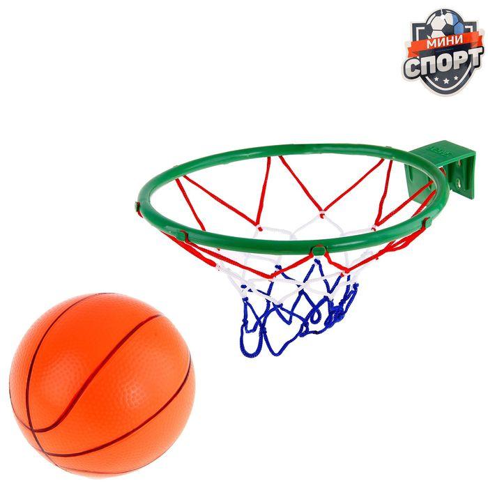 Баскетбол, мяч 16см, МИКС